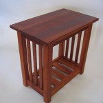 End Table - Cherry Magazine Rack & Pickets