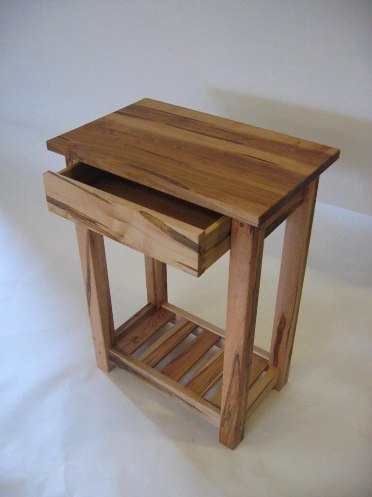 ambrosia maple end table  futon designs - end table  maple magazine rack  drawer