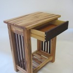 End Table - Maple Magazine Rack - Pickets - Drawer