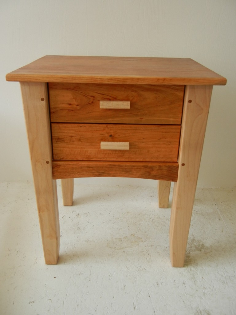 End table with drawer - Post Lintel End Table 2 Drawer