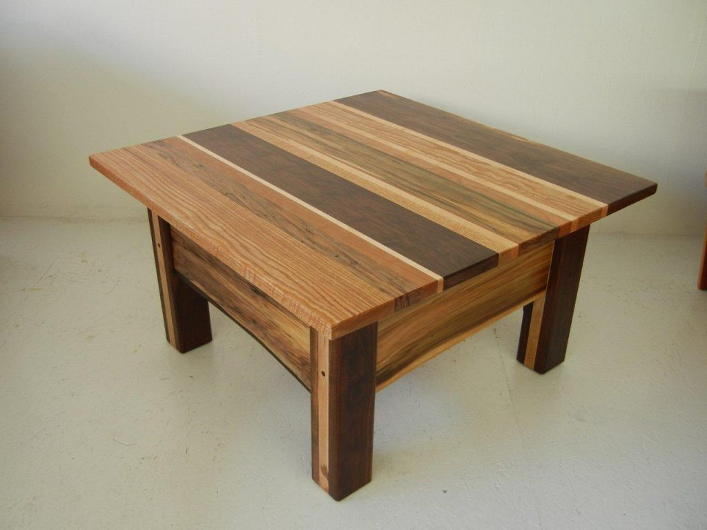 Rustic coffee table futon designs for Table design 10 personnes